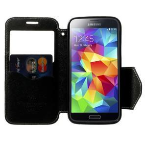 Pěněženkové pouzdro s okýnkem pro Samsung Galaxy S5 mini - bílé - 5