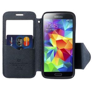 Pěněženkové pouzdro s okýnkem pro Samsung Galaxy S5 mini -  fialové - 5