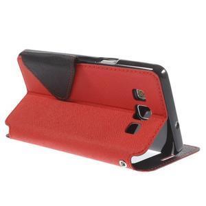Stylové pouzdro s okýnkem na Samsung Galaxy A5 - červené - 5