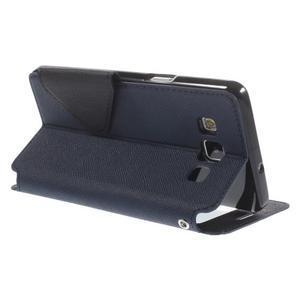 Stylové pouzdro s okýnkem na Samsung Galaxy A5 - tmavěmodré - 5