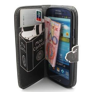 Peněženkové pouzdro na mobil Samsung Galaxy S3 - kočička s knihou - 5