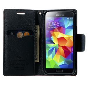 Diary PU kožené pouzdro na Samsung Galaxy S5 mini - rose - 5
