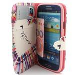 Peněženkové pouzdro na mobil Samsung Galaxy S3 - srdce z voskovek - 5/7