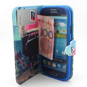 Peněženkové pouzdro na mobil Samsung Galaxy S3 - lama - 5