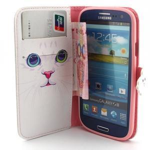 Peněženkové pouzdro na mobil Samsung Galaxy S3 - kočička - 5