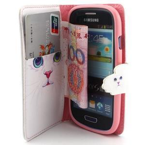 Fun peněženko pouzdro na Samsung Galaxy S3 mini - kočička - 5