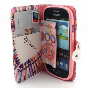 Fun peněženko pouzdro na Samsung Galaxy S3 mini - srdíčko z voskovek - 5