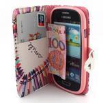 Fun peněženko pouzdro na Samsung Galaxy S3 mini - srdíčko z voskovek - 5/7