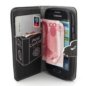 Fun peněženko pouzdro na Samsung Galaxy S3 mini - kočička čte - 5