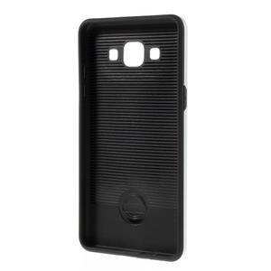 Hybridní gelové/plastové pouzdro na Samsung Galaxy A5 - stříbrné - 5