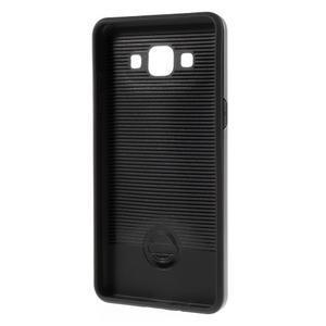 Hybridní gelové/plastové pouzdro na Samsung Galaxy A5 - šedé - 5