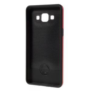 Hybridní gelové/plastové pouzdro na Samsung Galaxy A5 - červené - 5