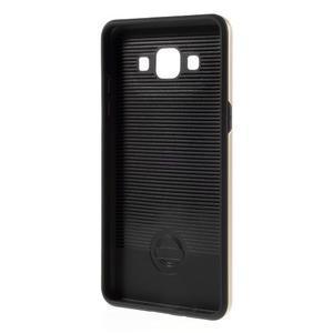 Hybridní gelové/plastové pouzdro na Samsung Galaxy A5 - zlaté - 5