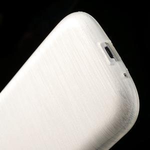 Brush gelový kryt na Samsung Galaxy S III / Galaxy S3 - bílý - 5