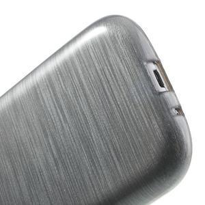 Brush gelový kryt na Samsung Galaxy S III / Galaxy S3 - šedý - 5