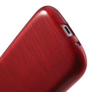 Brush gelový kryt na Samsung Galaxy S III / Galaxy S3 - červený - 5