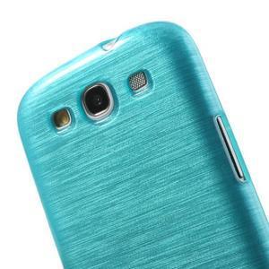 Brush gelový kryt na Samsung Galaxy S III / Galaxy S3 - modrý - 5