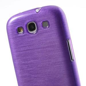Brush gelový kryt na Samsung Galaxy S III / Galaxy S3 - fialový - 5