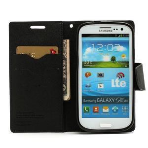 Mr. Fancy koženkové pouzdro na Samsung Galaxy S3 - černé - 5