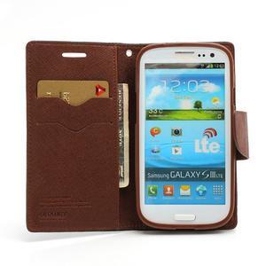 Mr. Fancy koženkové pouzdro na Samsung Galaxy S3 - černé/hnědé - 5