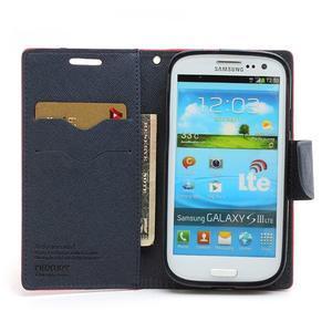 Mr. Fancy koženkové pouzdro na Samsung Galaxy S3 - červené - 5