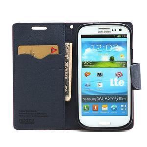 Mr. Fancy koženkové pouzdro na Samsung Galaxy S3 - rose - 5