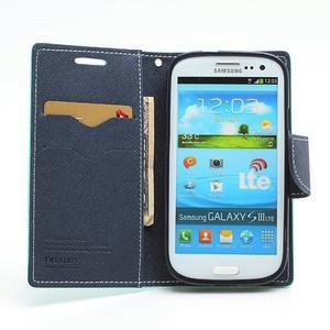 Mr. Fancy koženkové pouzdro na Samsung Galaxy S3 - azurové - 5