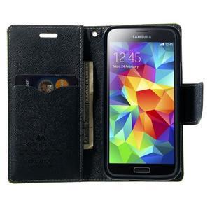 Diary PU kožené pouzdro na Samsung Galaxy S5 mini - zelené - 5