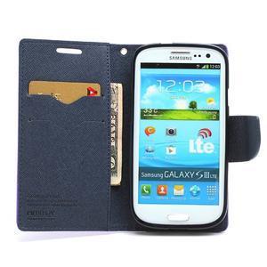 Mr. Fancy koženkové pouzdro na Samsung Galaxy S3 - fialové - 5