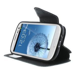 Peněženkové pouzdro s okýnkem pro Samsung Galaxy S3 / S III - bílé - 5