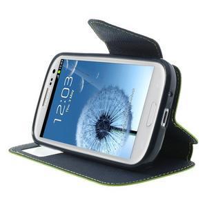 Peněženkové pouzdro s okýnkem pro Samsung Galaxy S3 / S III - zelené - 5