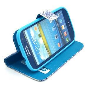 Peněženkové pouzdro na mobil Samsung Galaxy S III - sloni - 5