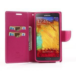 Goosp PU kožené pouzdro na Samsung Galaxy Note 3 - růžové - 5