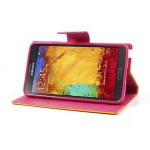 Goosp PU kožené pouzdro na Samsung Galaxy Note 3 - žluté - 5