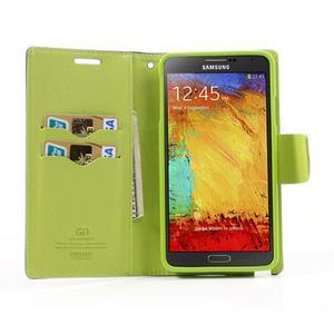 Goosp PU kožené pouzdro na Samsung Galaxy Note 3 - tmavěmodré - 5