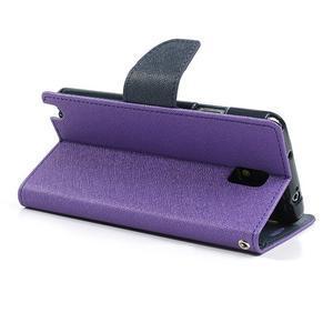 Goosp PU kožené pouzdro na Samsung Galaxy Note 3 - fialové - 5
