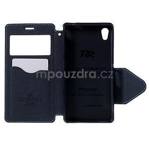 Peněženkové pouzdro s okýnkem pro Sony Xperia M4 Aqua - světlemodré - 5