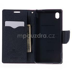 Ochranné pouzdro na Sony Xperia M4 Aqua - rose/tmavěmodré - 5
