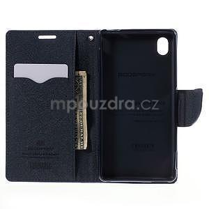 Ochranné pouzdro na Sony Xperia M4 Aqua - fialové/tmavěmodré - 5