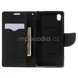 Ochranné pouzdro na Sony Xperia M4 Aqua - hnědé/černé - 5