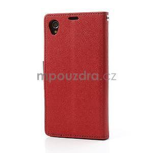 Fancy peněženkové pouzdro na mobil Sony Xperia Z1 - červené - 5