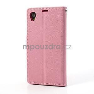 Fancy peněženkové pouzdro na mobil Sony Xperia Z1 - růžové - 5