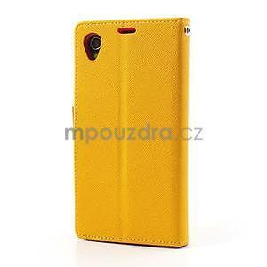 Fancy peněženkové pouzdro na mobil Sony Xperia Z1 - žluté - 5