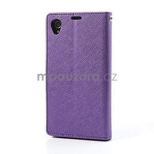 Fancy peněženkové pouzdro na mobil Sony Xperia Z1 - fialové - 5