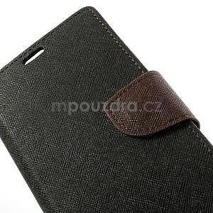 Fancy peněženkové pouzdro na mobil Sony Xperia Z1 - černé/hnědé - 5