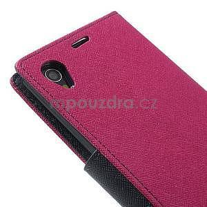 Fancy peněženkové pouzdro na mobil Sony Xperia Z1 - rose - 5