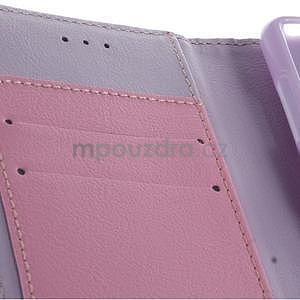 Koženkové pouzdro na Sony Xperia Z3 - fialové - 5