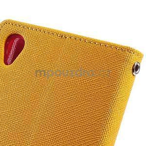 Peněženkové pouzdro na mobil Sony Xperia Z3 - žluté - 5