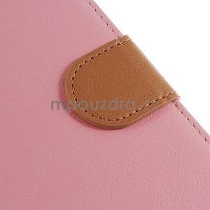 Koženkové pouzdro na Sony Xperia Z3 - růžové - 5