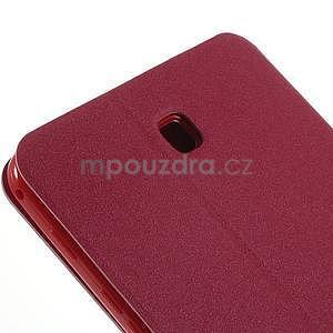PU kožené peněženkové pouzdro pro tablet Samsung Galaxy Tab 4 8.0 - magenta - 5